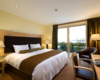 A Premier Deluxe bedroom in The Bay Hotel, Pettycur, Fife