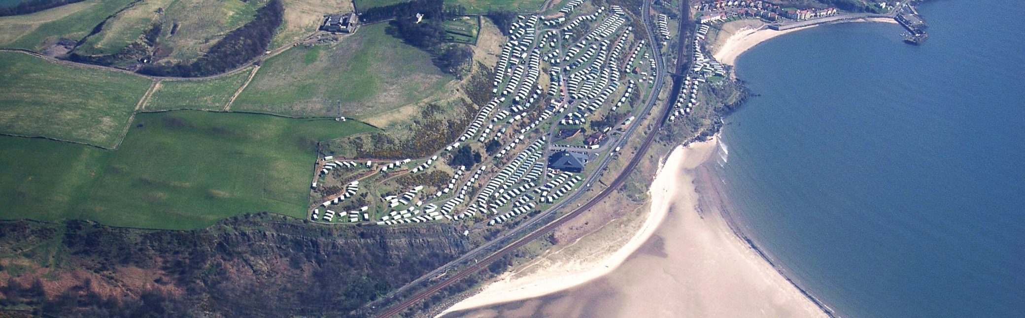 An aerial view of the holiday park. Everything you need is close at hand.