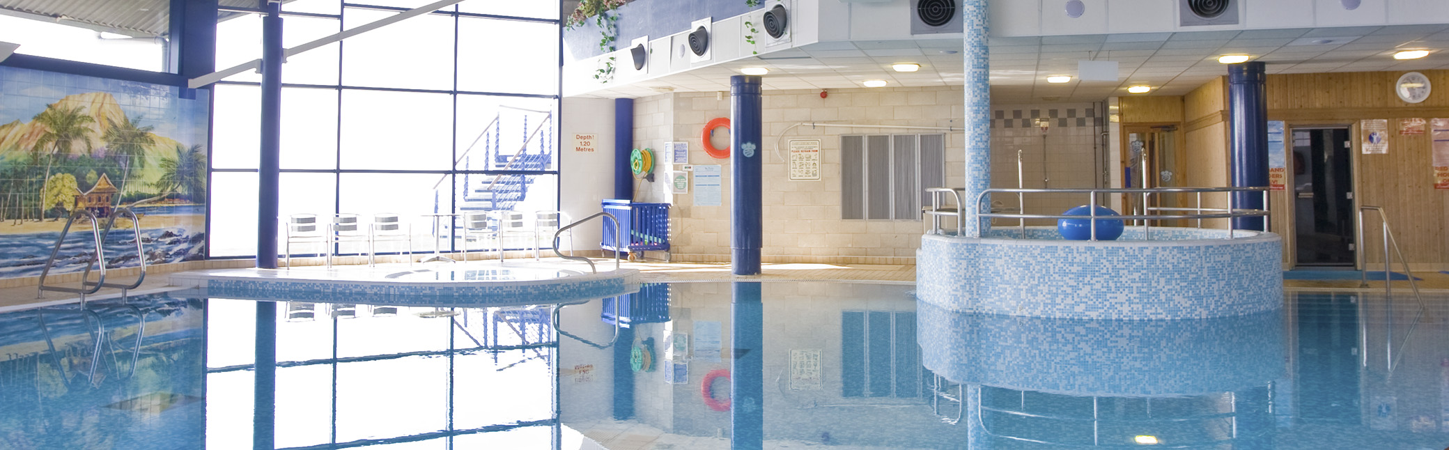 The swimming pool in the Bay Hotel and Leisure Centre.