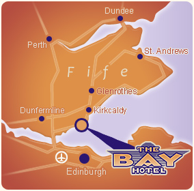 Map of Fife, Scotland